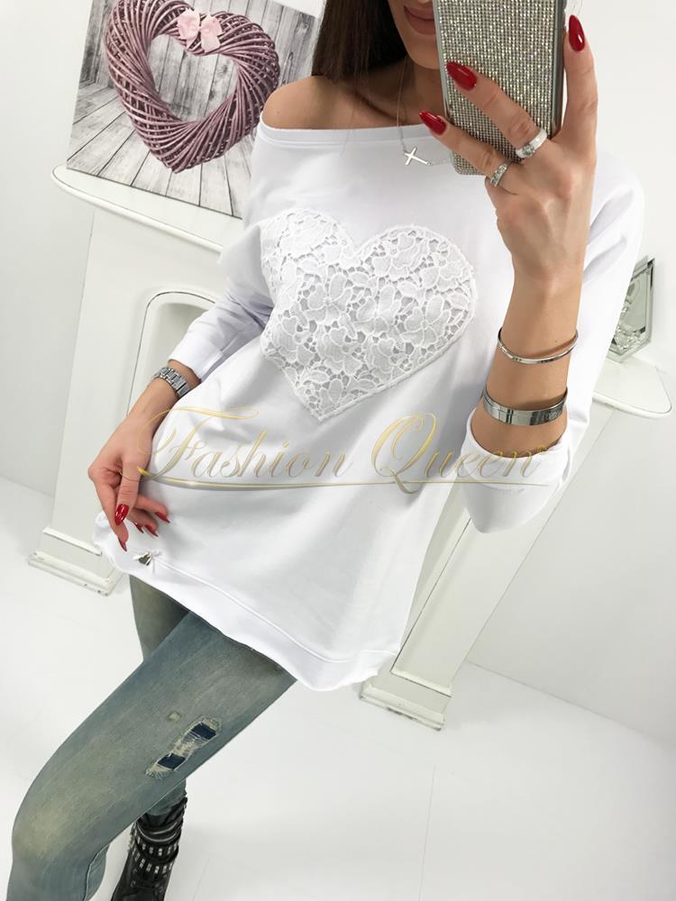 a4229f6b04ef Fashion Queen - Dámske oblečenie a móda - Biele tričko