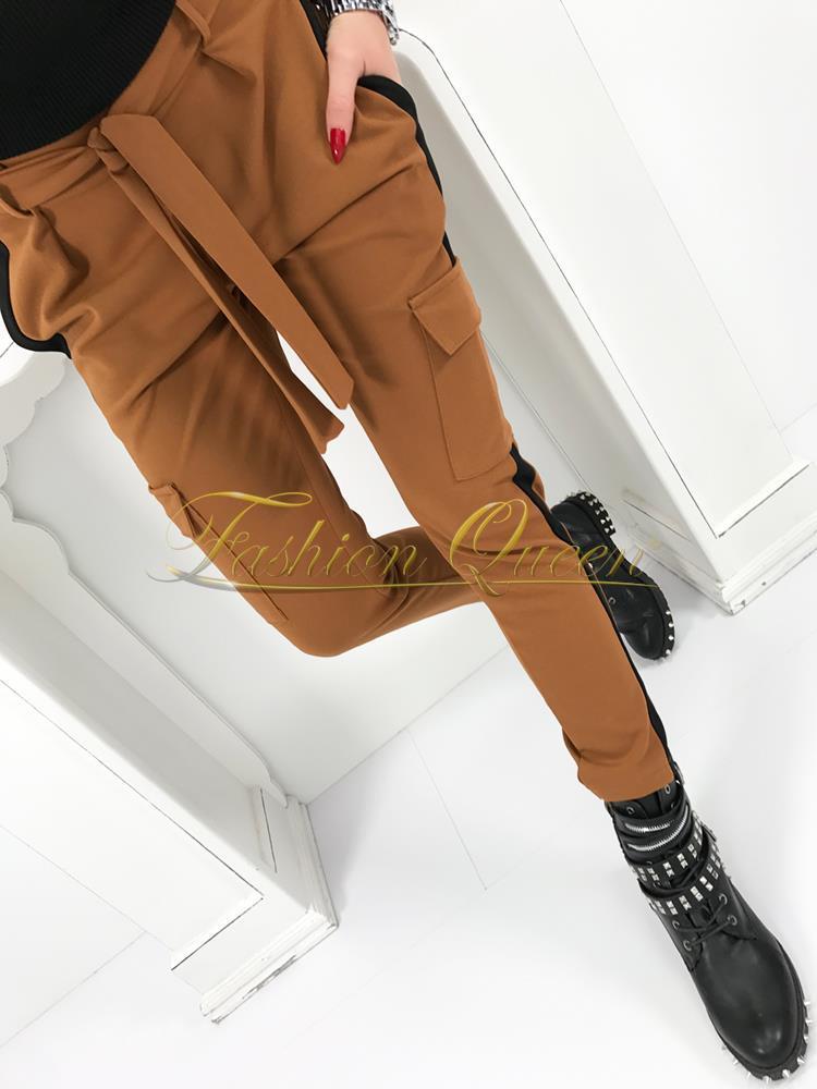 6cb6b057b5ab Fashion Queen - Dámske oblečenie a móda - Hnedé nohavice s vreckami