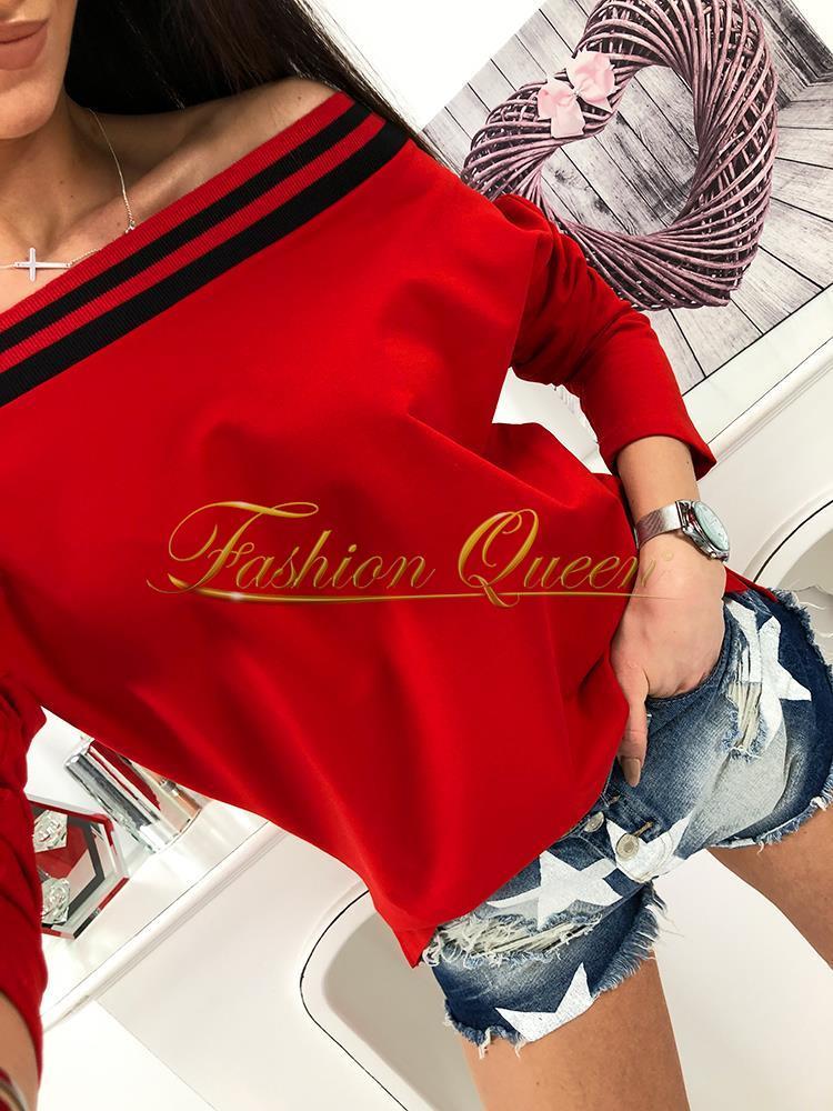 14f4a6207419 Oversize tričko s odhalenými ramenami vyrobené z príjemného materiálu  môžete skombinovať s nohavicami