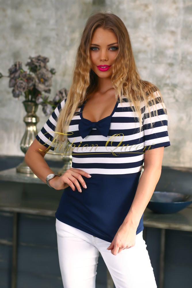 Fashion Queen - Dámske oblečenie a móda - Pásikavé tričko 87833894c7f