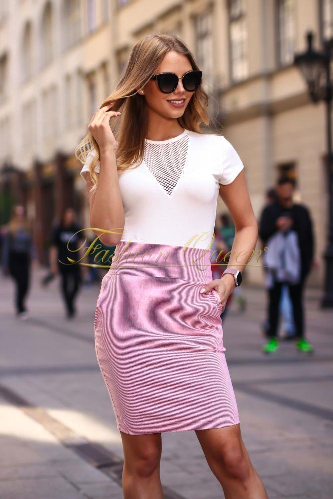 Sukňa s vysokým pásom