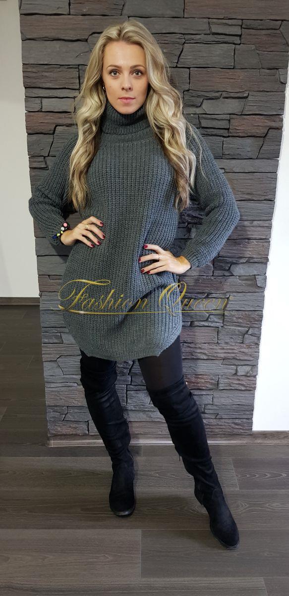 Teplé šaty (dlhý sveter)
