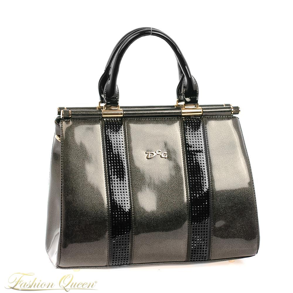Čierna lesklá kabelka